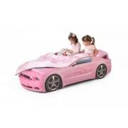 Детско легло тип кола Мустанг Plus в розов цвят