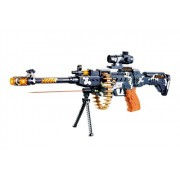 """Toyshine 25"""" Musical Army Style Toy Gun for Kids with Music, Lights and Laser Light"""