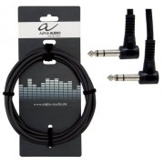Cablu Patch Alpha Audio 1 x 6.3mm Jack Stereo 90°-1 x 6.3mm Jack Stereo 90° 0.3m