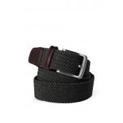 ランズエンド LANDS' END メンズ・エラスティック・ブレイド・ベルト(ブラック)