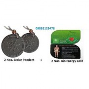 2 Nos. Original Scalar Energy Pendant + 2 Nos. 2mm Bio Energy Card Scalar India