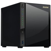 Мрежов сторидж Asustor AS4004T, 4 Bay NAS, Marvell Armada A7020 Duad-Core, 2 GB DDR4, Gbe x2, 10G Base-T x1, Черен, AS4004T