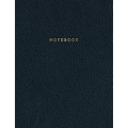 Notebook: Classic Black Leather Style - Gold Lettering - Softcover 150 College-Ruled Pages 8.5 X 11 Size, Paperback/Shady Grove Notebooks