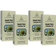 Khadi Pure Herbal Eucalyptus Essential Oil - 15ml (Set of 4)