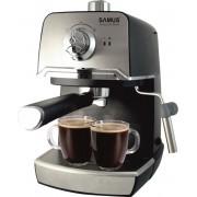 Espressor Samus Aroma 20 Black, Presiune 20 bari, 1.2 L, Duză abur pentru cappuccino, Filtru inox, Negru/Inox