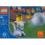 LEGO 7923 2004 McDonald's Sports Set Number 1 - White Soccer Player Number 4