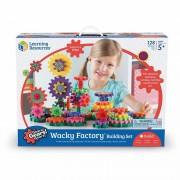 Set de constructie Gears! Wacky Factory Learning Resources, 128 piese, 5 ani+