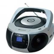 Radio cd mp3 portatil nevir nvr- 481ub plata / bluetooth