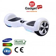 """6.5"""" Racing White Classic Segway Hoverboard"""