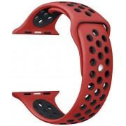 Wotchi Silikonový řemínek pro Apple Watch Červená/Černá 42/44 mm