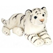 "Laying White Cuddlekin Tiger 12"" by Wild Republic"