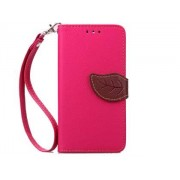 Slim Synthetic Leather Wallet Case with Stand for HTC Desire 520 - HTC Leather Wallet Case (Pink/Brown)