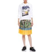 【76%OFF】シルクアコーディオンプリーツ プリント 配色 スカート マルチ 36 ファッション > レディースウエア~~スカート