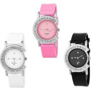 Mega LOOK BEST GIFT For C - WATCH COMBO Analog Watch - For Girls PACK OF 3