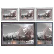 Bilderrahmen Set, Fotorahmen Holzrahmen, 3x 21x26cm 1x 26x36cm 1x 36x51cm Shabby Landhaus ~ Variantenangebot