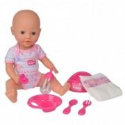 Papusa Fun New Born Baby 38 cm Bebe cu olita si accesorii