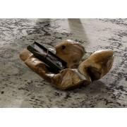 Schale Teak 50x50x12 natur UNIKA #114