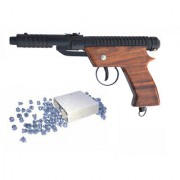 Prijam Air Gun Eagle Wooden Handle Metal Body 100 Pellets Free