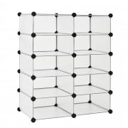 Гардероб - Направи си сам [neu.haus]®, 10 отделения, 90 x 73 cm Бял