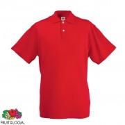 Fruit of the Loom eredeti férfi pólóing méret XXL piros
