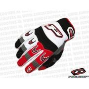 Handschoen Type: 4010 MX Kleur: Wit Rood Maat: S
