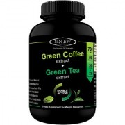 Sinew Nutrition Green Tea and Green Coffee Extract 700 mg (60 Pure Veg Capsules) Pure Natural Weight Management