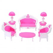 Tradico Doll House Furniture Set Miniature Plastic Family Child Play Living Room Toy