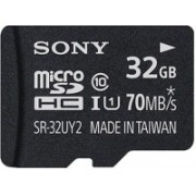 Sony 32 GB MicroSDHC Class 10 70 MB/s Memory Card(With Adapter)