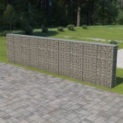 vidaXL Perete gabion cu capace, 600 x 30 x 150 cm, oțel galvanizat