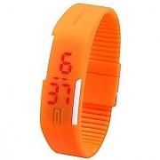 Sketchfab K3 Fashion Ultra Thin LED Watch Unisex Digital Sports Watch For Men Women Kids - Orange