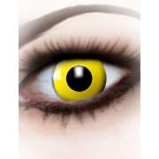 Lentillas fantasía ojo amarillo adulto Única