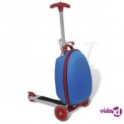vidaXL Dječji skuter s plavim koferom