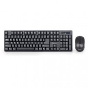 Gembird KBS-W-01, безжична клавиатура и мишка, 2.4 GHz, 1000dpi, кирилизарани, USB, черни
