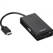 Четец за карти HAMA 54144, USB 2.0 Type-C хъб за телефон,лаптопи,таблети