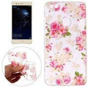 Huawei P10 Lite Roses Pattern Embossment TPU Protective Back Cover Case