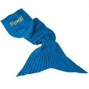 Close Up Personalisierbare Kuscheldecke Meerjungfrau blau