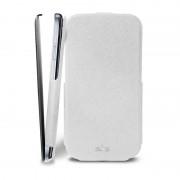 Bolsa em pele com cobertura Puro para Samsung Galaxy S4 i9500 - Branco