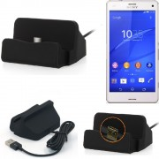 Charge Station D'accueil Base De Chargeur Pour Sony Xperia Z3 Compact Dock Chargement Micro Usb Desktop Charger Charging Stand Cradle Black - K-S-Trade (Tm)