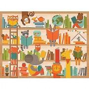 Petit Collage Floor Puzzle Wild Reading 24 pieces