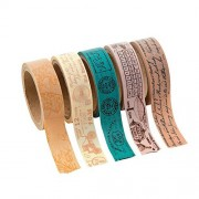 Travel Washi Tape Set (5 Rolls Per Unit) Each Roll Includes 16 Ft. Of Tape