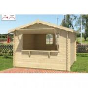 Cabaña de madera Loto 300x300 cm para Jardín