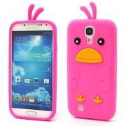 B2Ctelecom Samsung Galaxy S4 i9500 Chicken Silicone Case Roze