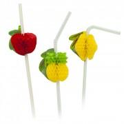 Szívószál 3D-s gyümölccsel