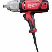 Milwaukee Electric Corded Impact Wrench with Friction Ring and Rocker Switch - 3/4Inch Drive, 380 Ft.-Lbs. Torque, Model 9075-20