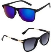 Vishva Trendz Hub Wayfarer Sunglasses(Multicolor)