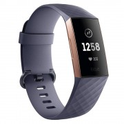 Fitbit Fitness Náramek Fitbit Charge 3 Rose Gold/blue Grey