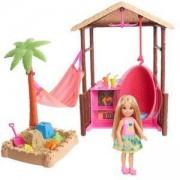 Кукла Barbie - Барби на път игрален комплект, хижата на Тики, 1710124