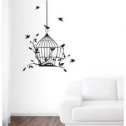 EJA Art Open Prison Wall Sticker (Material - PVC) (Pec - 1) With Free Set of 12 pec butterflies sticker