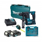 Makita HR140DSAE1 Tassellatore a batteria SDS - Kit 66 accessori