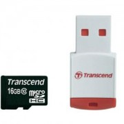 Transcend 16GB micro SDHC (with reader - Class 10) - TS16GUSDHC10-P3